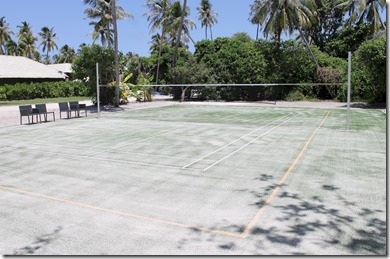 Velaa - astro-turf badminton court