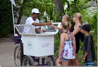 LUX Maldives ICI ice crean cart 1