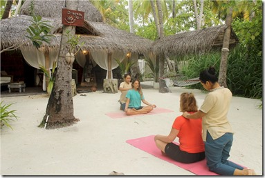 Thudufushi - yoga finish
