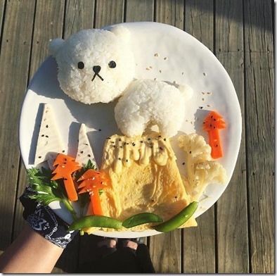LUX South Ari Atoll - food art plate