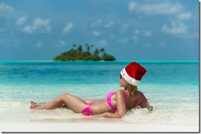 Maldives Christmas beach