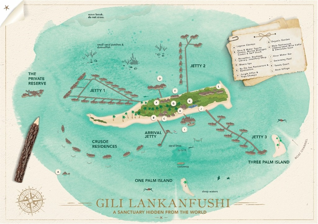 Best of the Maldives Map Gili Lankanfushi Maldives Complete Blog