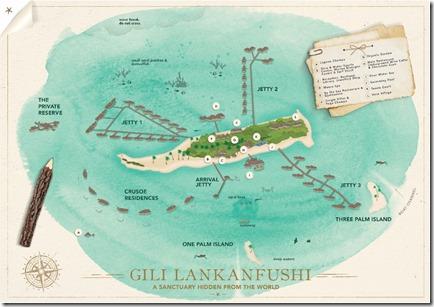 Gili Lankanfushi - birdseye map