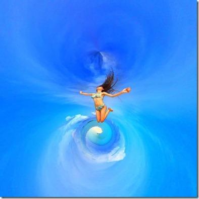 Maldive artistic leap