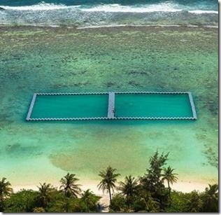 Hulhumale - ocean pool