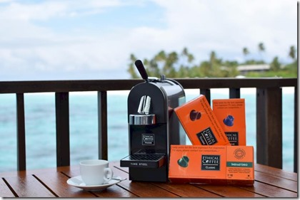 Park Hyatt Hadahaa - biogradable coffee pods