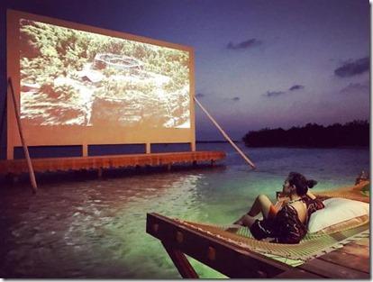Soneva Jani - lagoon cinema