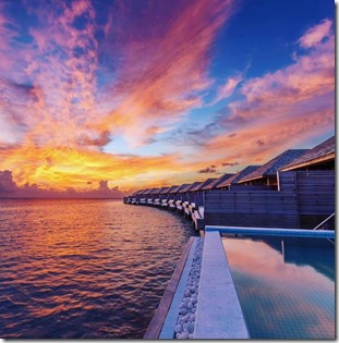 Maldives sunset 4