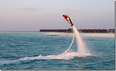 LUX South Ari Atoll - flyboarding