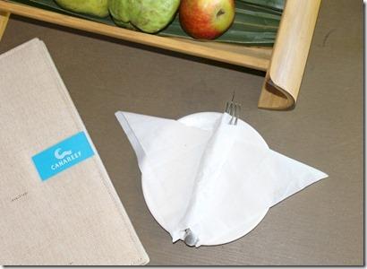 Canareef - manta napkin folding