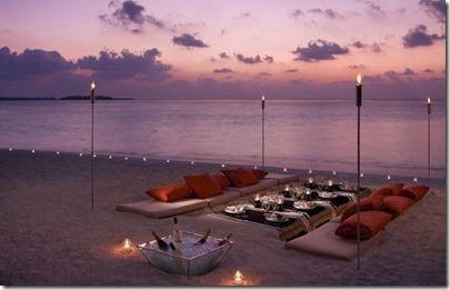 Four Seasons Landaa Giraavaru - beach dinner