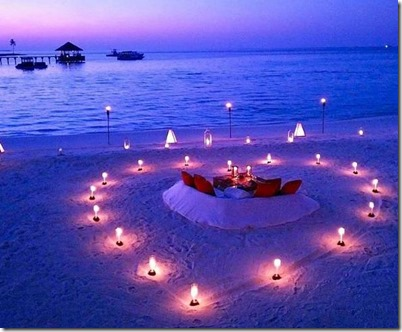 Gili Lankanfushi - beach dinner
