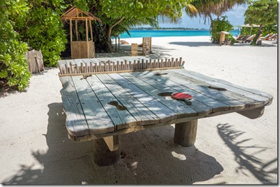 Six Senses Laamu - ping pong table