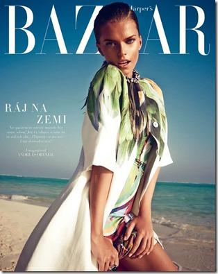 Victoria Halenarova (Czech) – Four Seasons Kuda Huraa – Harpers Bazaar