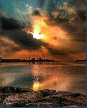 Maldives sunset 12