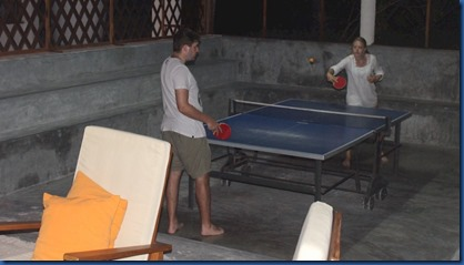 Rihiveli Beach - table tennis area