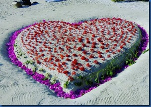 Hearts - sand decoration
