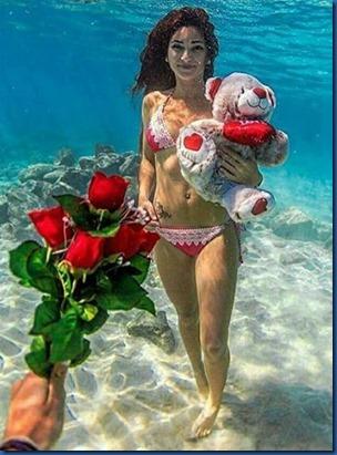 Hearts - underwater