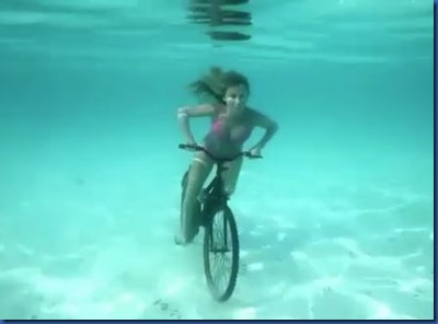 Underwater - activity - biking