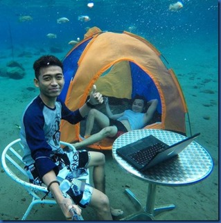 Underwater - activity - camping