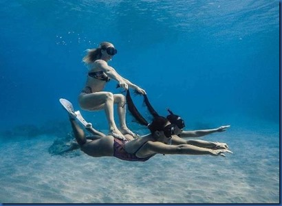 Underwater - activity - double body surfing