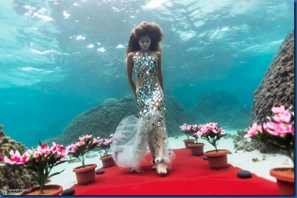 Underwater - activity - fashion show