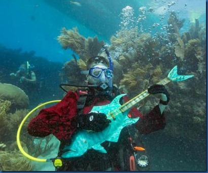 Underwater - activity - guitar playing