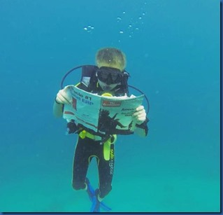 Underwater - activity - reading