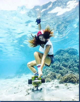 Underwater - activity - skateboarding