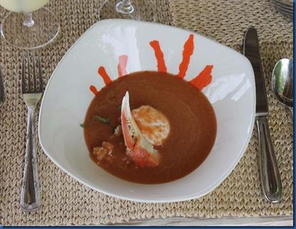 Finolhu - crab gazpacho