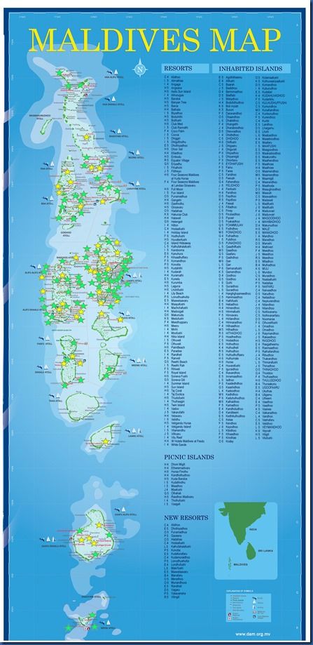 Tour - map of visited resorts 2018