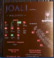 Joali - evacuation map