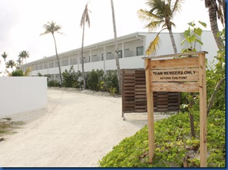 LUX North Male Atoll - staff quarters