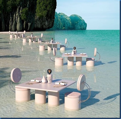 Havent Seen Yet - in water dining elaborate