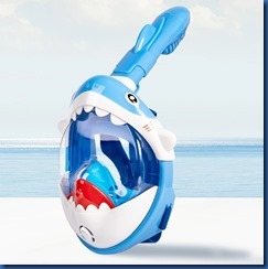 Baby shark snorkel mask