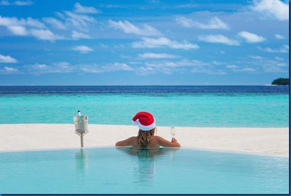 Baglioni Christmas pool
