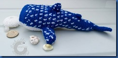 Knitted whale shark