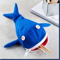 Whale shark pencil case