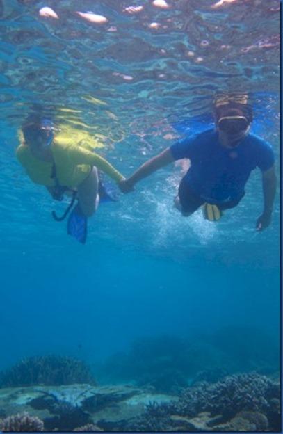 romantic snorkeling