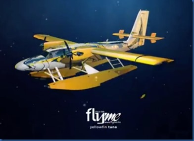 FlyMe yellow fin tuna seaplane
